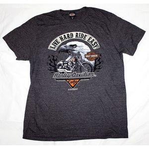 Harley Davidson Motorcycle Las Vegas Cafe T Shirt
